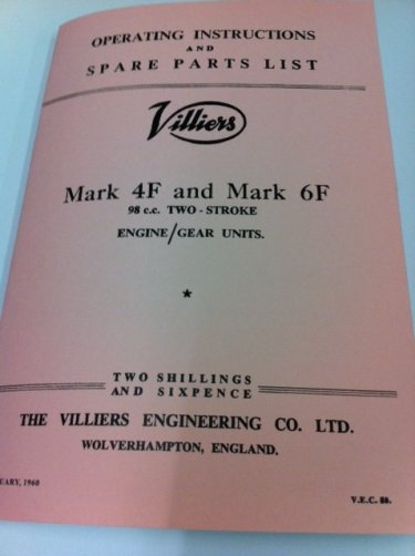 Villiers parts books / manuals : Villiers Services