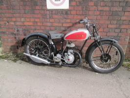 1934 SOS with a 250 cc six port villiers racing engine