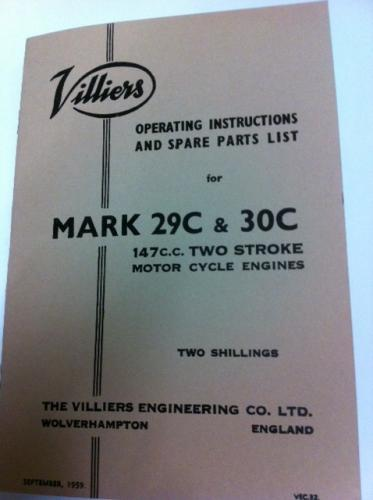 29C / 30C Parts Book / Operating Instructions