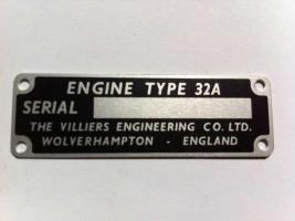 32A Engine ID Plate