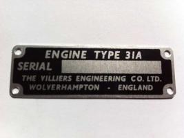 31A Engine ID Plate