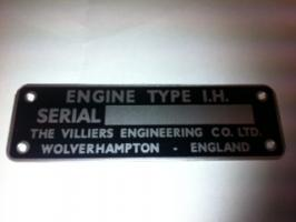 1H Engine ID Plate