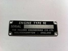9E Engine ID Plate