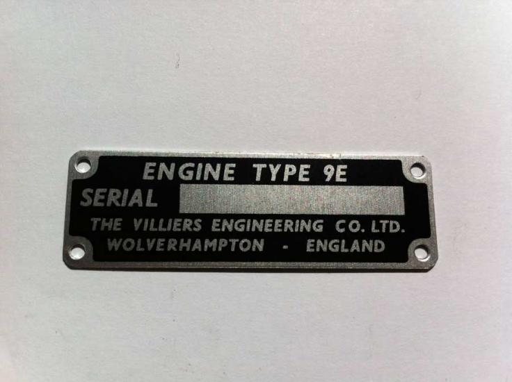 9E Engine ID Plate - Click Image to Close