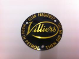 Villiers Air Filter Badge 1 5/8 Diameter