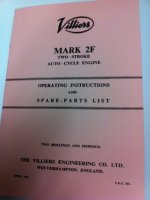 2F Parts Book / Operating Instructions