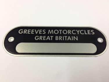 Greeves Griffon ID Plate