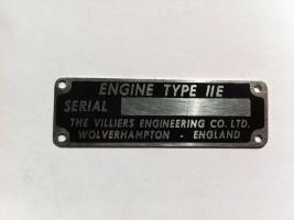 11E Engine ID Plate