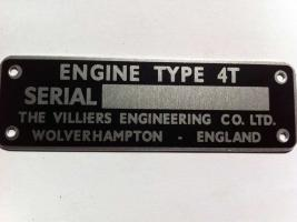 4T Engine ID Plate