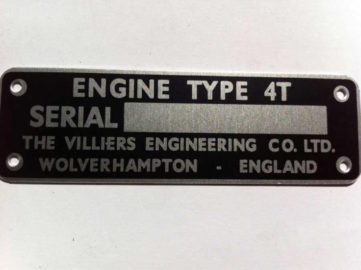 4T Engine ID Plate - Click Image to Close